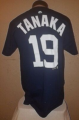 NEW Majestic MLB New York Yankees  19 Tanaka Jersey Shirt Mens Medium  DISCOUNTED f5a135d90de