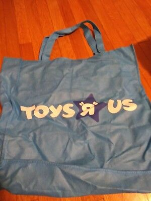 """Large 19"""" Toys R Us Store Logo Reusable Handled Grocery Shopping Tote Bag Blue"""