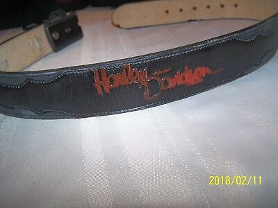 Harley-Davidson Leather Logo Belt Size 30 Heavy Duty Belt...nice