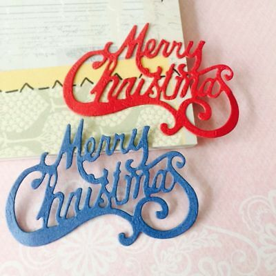 Merry Christmas Cutting Dies Stencil DIY Scrapbooking Embossing Craft Paper Gift
