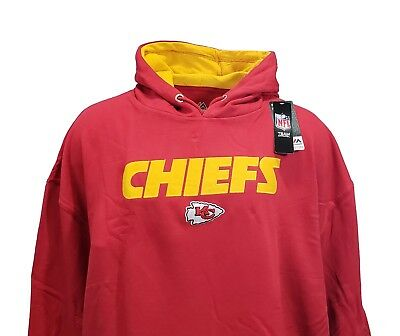 Wholesale KANSAS CITY CHIEFS NFL Mens Majestic Pullover Hoodie Red, Big & Tall  for cheap