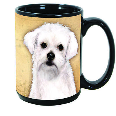 Maltese Faithful Friends Dog Breed 15oz Coffee Mug Cup