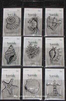 Couture Creations MINI CLEAR STAMPS 'SEASIDE & ME' (Choose from 9) Nautical
