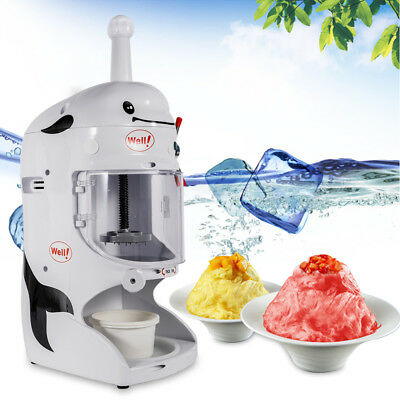 110V Commercial Electric Ice Crusher Ice Shaver Snow Cone Machine Ice Maker NEW