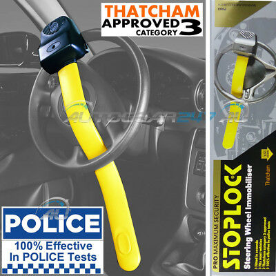 Geniune Stoplock Pro Thatcham 3 Car Van Steering Wheel Security Anti-Theft Lock