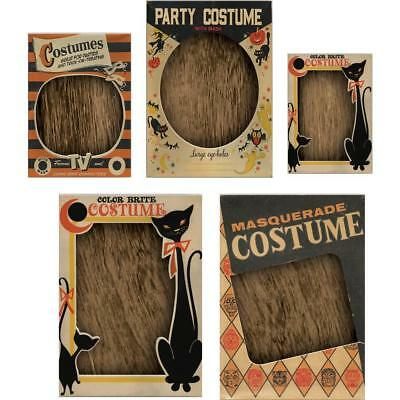 Tim Holtz Idea-Ology ~ VIGNETTE BOX TOPS ~ Halloween TH93729 5 in packet