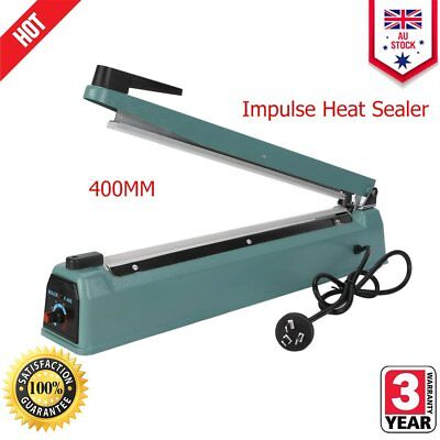 400mm Sealing Machine Impulse Heat Sealer Electric Plastic Poly Bag QS1