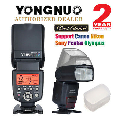 Yongnuo YN560 IV Universal Speedlite Flash Kit for Canon Nikon Sony + Dffuser UK