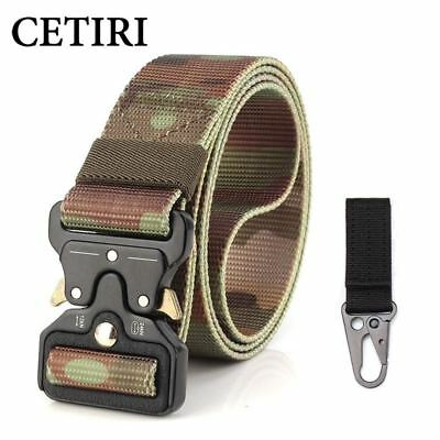 tactical belt heavy duty webbing belt adjustable military nylon belts with metal