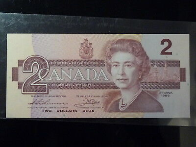 1986 Bank of Canada $2 two dollars - Thiessen/Crow BUD - gem uncirculated 65+