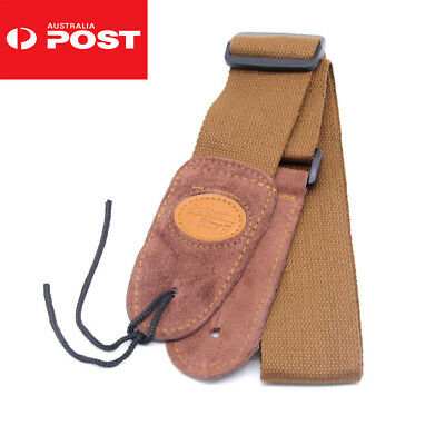 Classic Luxury Soft Leather Guitar Acoustic, Electric, Basses Guitar Strap AU