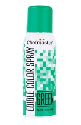 NEW Chefmaster Edible Food Spray Green