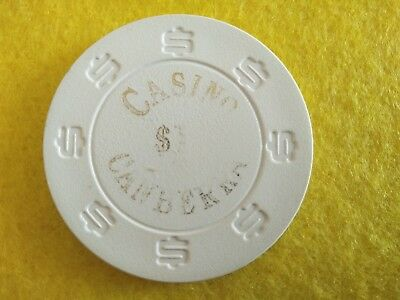 Old $1.00 Canberra Casino Chip, Australia, vintage collectable.