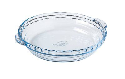 NEW O'Cuisine Glass Pie Dish With Handles 26x23cm