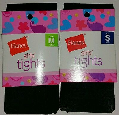 Hanes Black Girl Tights - New in Package, Small or Medium - 2 for $8