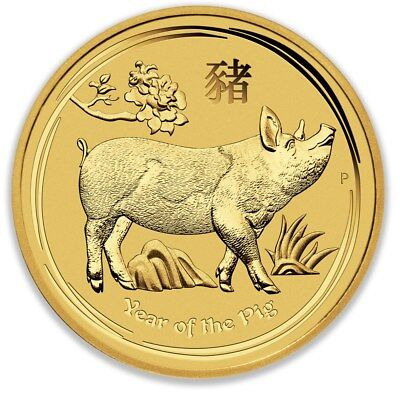 2019 Perth Mint Gold Lunar Pig 1/10 oz Bullion Coin