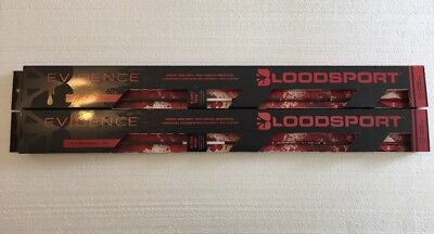 Two Boxes Of NEW BLOODSPORT ARCHERY PSA130106 EVIDENCE 300 .001 ARROWS 2-6 PACKS