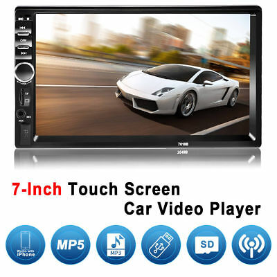 """7"""" HD Car Bluetooth Audio Stereo MP5 Video Player Radio In Dash Touch Screen US"""
