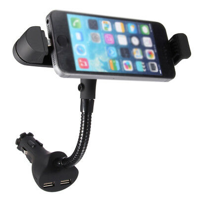 Dual USB Chargeur de voiture allume-cigare Support de montage pour iPhone 6 I7P0