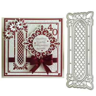 4Pcs/Set Lattice Window Frame Cutting Die for Scrapbooking Embossing Cards Intri