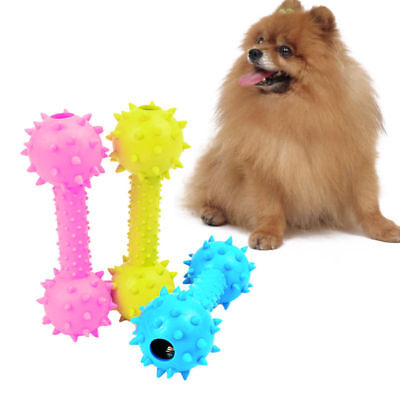 Pet Dog Puppy Cat Rubber Dental Teething Healthy Teeth Gums Chew Toy Tools New