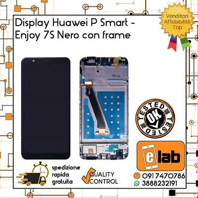 Display Touch Screen Lcd Per Huawei P Smart Fig-Lx1 Con Frame Nero Schermo