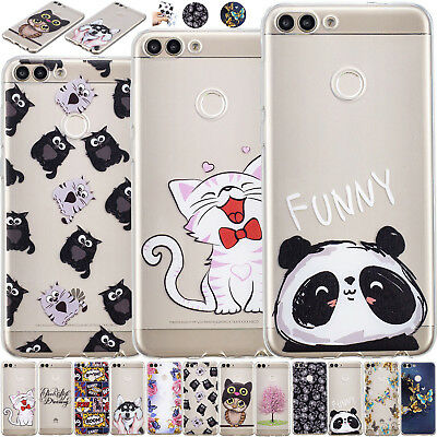 Unique Painted Soft TPU Gel Phone Case Cover For Huawei P20 Mate 10 Lite P Smart