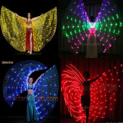 182LED isis wings belly dance light up show cosplay prop sticks