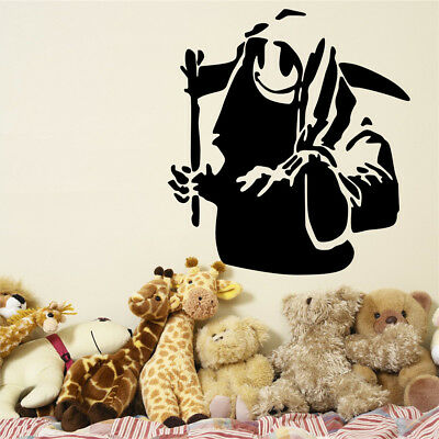 Banksy Vinyl Wall Decal Death With Happy Smiley Face Graffiti Street Art Sticker