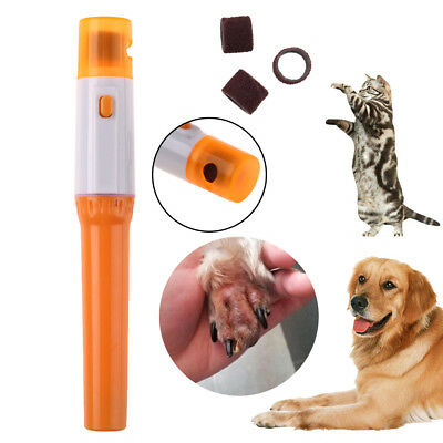 Dog Cat Electric Pet Nail Grinder Grooming Paw Trimmer Clipper Nail Claw File