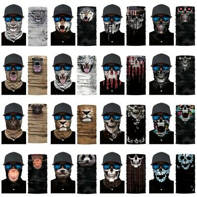Men's Motorcycle Cycling Head Scarf Neck Warmer Face Mask Ski Balaclava Headband