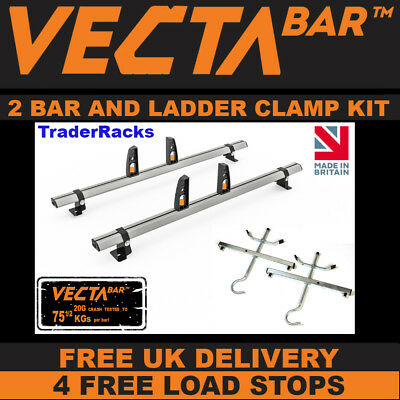 VW Caddy MAXI Roof Rack Bars x2 VectaBars Used For Ladders To Fit 2004-2010 Van