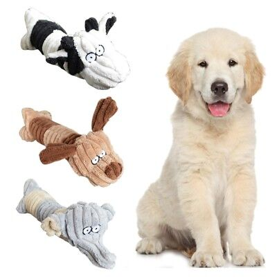 Pet Puppy Dog Squeak Sound Plush Toy Pet Chew Play Funny Training Squeaking Toys