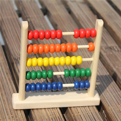 Wooden Children's Counting Bead Abacus Educational Frame Math Toy For Kids Z