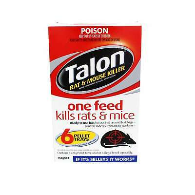 Talon Rat and Mice Kills With One Feed Selleys 6 x 25g Trays