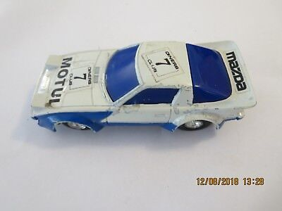 Sunny Toy RX7 Slot Car - Rare Vintage 1970's - Working Headlights - Speedking