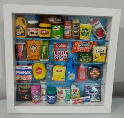 Coles Little Shop Mini Collectables Full Set And Customised Frame
