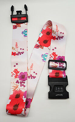 SpiriuS Flowers Travel Luggage Straps Adjustable Suitcase Safety Buckle Belt