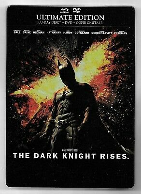Coffret Steelbook Blu-Ray + Dvd / Batman The Dark Knight Rises / 3 Disc