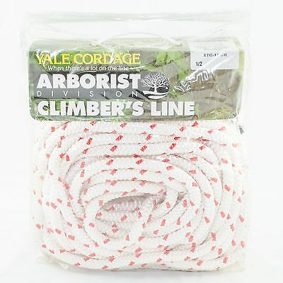 "Tree Climbing Line/Rope 1/2"" X 150' Yale XTC White12 Stand,6000 Lb. Strength USA"