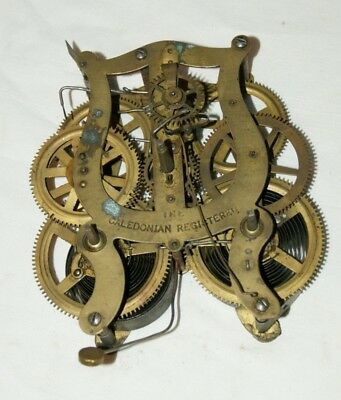 Antique THE CALEDONIAN REGISTERED Shelf/Wall Clock Movement, Spares/Repair