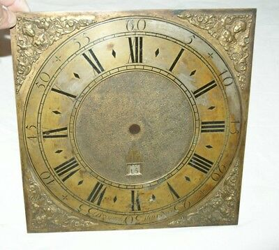 Antique Longcase/Grandfather Clock Brass Face  (Bronnley, Staindrop)