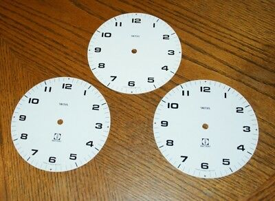 3 x SMITHS Aluminium Clock Faces/Dials