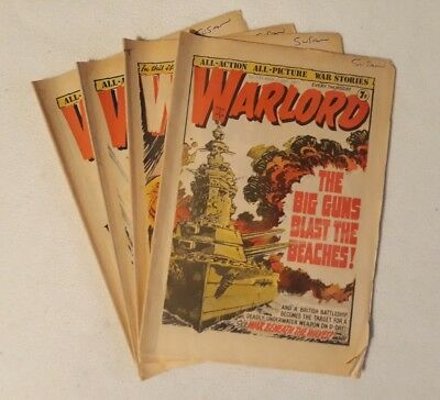 4 Issues Warlord 1977 ALL VG - VF