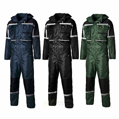 Dickies Waterproof Lined Quilted Padded Coverall WP15000 Tunnel Suit
