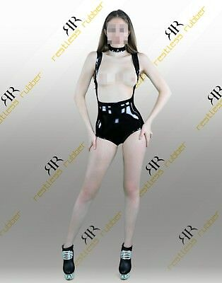 "Latex Body Damen ""Highwaist - Breast Free"" NEU XS S M L XL XXL schwarz geklebt"