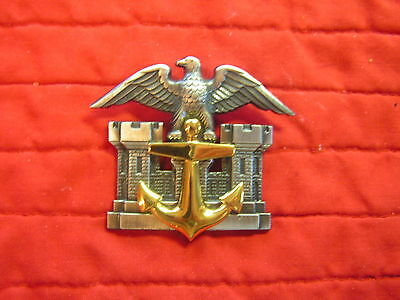 U S Army Corps Of Engineers Floating Plant Hat Badge 1970's Time Frame