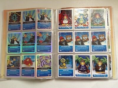 282 x Disney Club Penguin trading cards foil customize sketch elite swaps folder