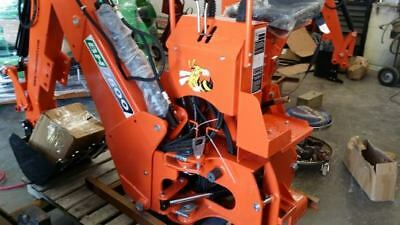 3 point Backhoe 7600, ORANGE 8-foot excavator with free PTO PUMP & shipping