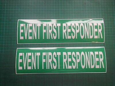 Event First Responder Reflective Magnet Paramedic Medic Sign 300x90mm x 2